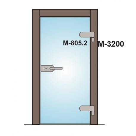 M-3200A TRZPIEŃ ZAWIASU Z OSŁONKĄ - ANODA