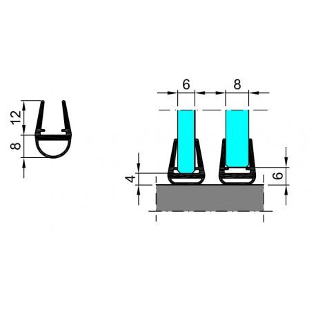 M-T10-D-2.5 PROFIL USZCZELNIAJĄCY Z PCV