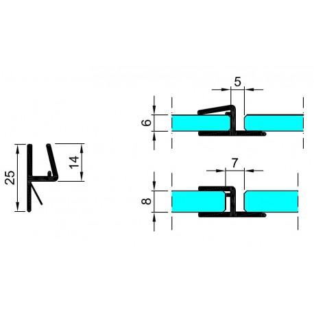 M-T1-D-2.5 PROFIL USZCZELNIAJĄCY
