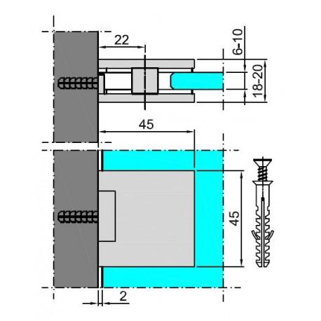 M-933U-PC(N) MOCOWANIE SZKŁA - MATOWY CHROM