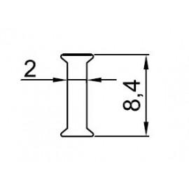 P-8 PROFIL MIĘDZYSZYBOWY DO SZKŁA 8 MM
