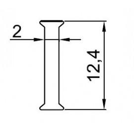 P-12 PROFIL MIĘDZYSZYBOWY DO SZKŁA 12 MM