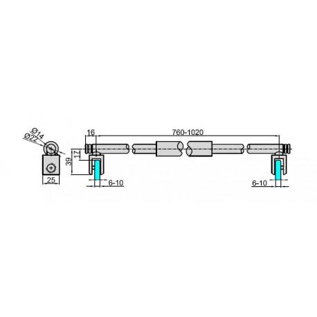 M-922-105-N C - RAMIĘ USZTYWNIAJĄCE - POL. CHROM