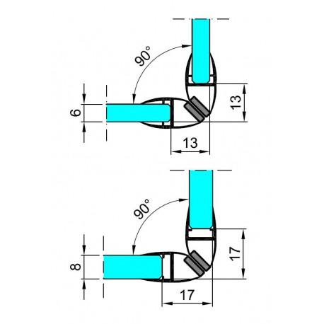 M-TM18-D-2.5 PROFIL PCV USZCZELNIAJĄCY-MAGNETYCZNY