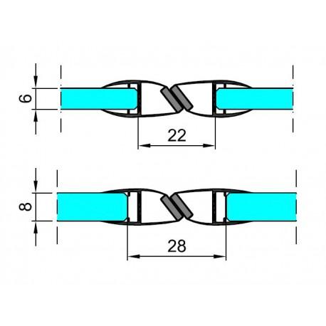 M-TM20-D-2.5 PROFIL PCV USZCZELNIAJĄCY-MAGNETYCZNY
