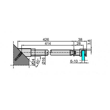 M-9765(N) PC RAMIĘ USZTYWNIAJĄCE-MATOWY CHROM