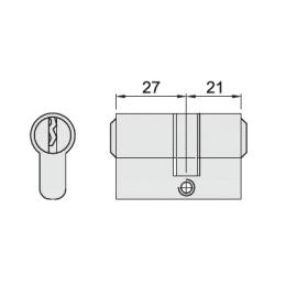 M-DC01-BN WKŁADKA PATENTOWA 27/21, CYLINDER - SATYNA